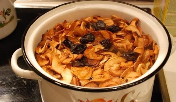 Компот из сухофруктов яблок, груши и кураги - рецепт пошаговый с фото